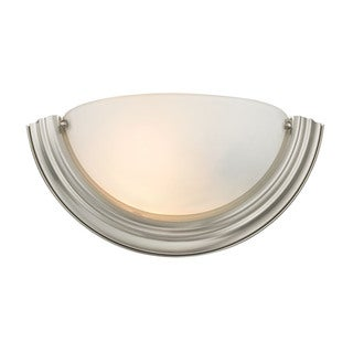 Cornerstone 13.5-inch Silver Brushed Nickel 1-light Wall Sconce