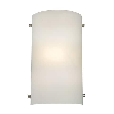 Cornerstone 7.5-inch Silver Brushed Nickel 1-light Wall Sconce