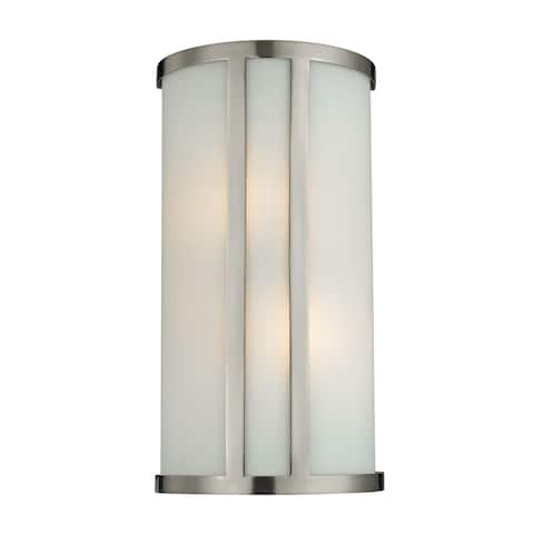 Cornerstone 7.5-inch Grey Brushed Nickel 2-light Wall Sconce