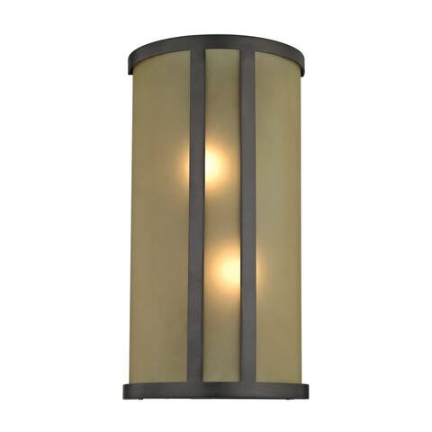 Cornerstone Brown Oil Rubbed Bronze 2-light Wall Sconce