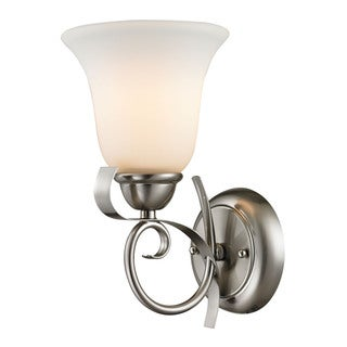 Cornerstone 6-inch Grey Brushed Nickel Brighton 1-light Wall Sconce