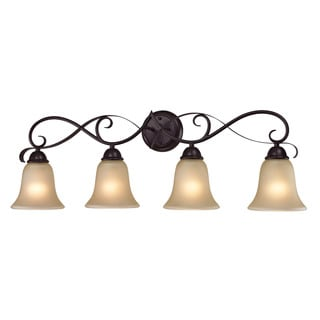Cornerstone Brown Oil Rubbed Bronze Brighton 4-light Bath Bar
