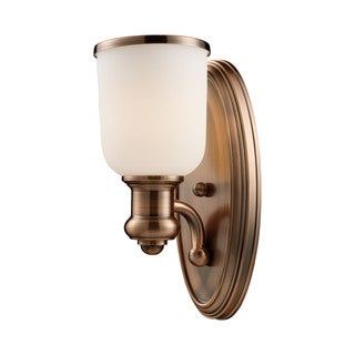 Cornerstone Brown Antique Copper Brooksdale 1-light Sconce