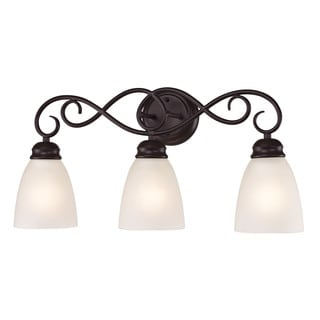 Cornerstone Brown Oil Rubbed Bronze Chatham 3-light Bath Bar