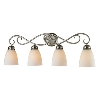 Cornerstone 32-inch Silver Brushed Nickel Chatham 4-light Bath Bar