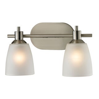 Cornerstone Silver Brushed Nickel Jackson 2-light Bath Bar