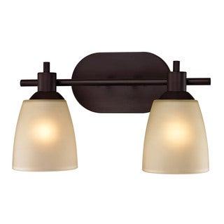 Cornerstone 14-inch Brown Oil Rubbed Bronze Jackson 2-light Bath Bar
