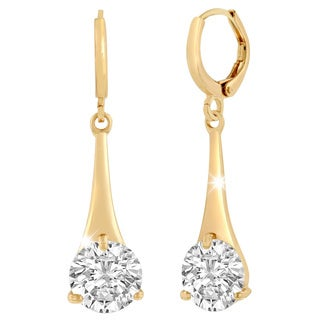 Adoriana Yellow Gold Over Brass Elegant Drop Earrings