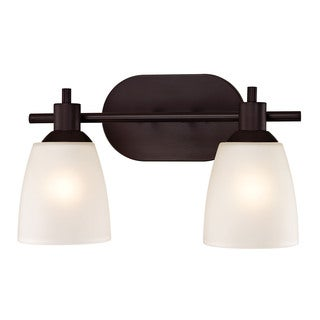 Cornerstone Brown Oil Rubbed Bronze Jackson 2-light Bath Bar