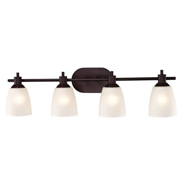 Shop Cornerstone Oil Rubbed Bronze Jackson 4 Light Bath Bar Free Shipping Today Overstock