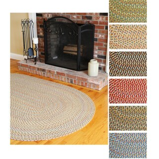 Cozy Cove Indoor/Outdoor Oval Braided Rug (2' x 3') by Rhody Rug