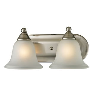 Cornerstone Silver Brushed Nickel Shelburne 2-light Bath bar