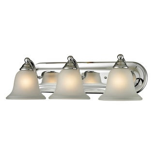 Cornerstone Silver Chrome Shelburne 3-light Bath bar