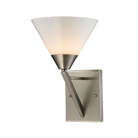 Cornerstone Silver Brushed Nickel Tribecca 1-light Wall Sconce