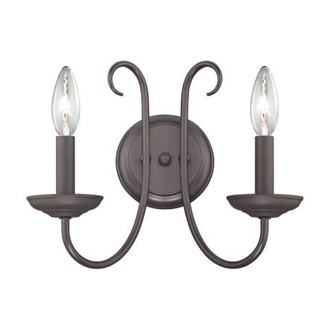 Cornerstone Brown Oil Rubbed Bronze Williamsport 2-light Wall Sconce