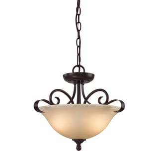Cornerstone Oil Rubbed Bronze Brighton 2-light Convertible