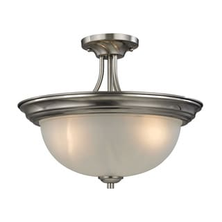 Cornerstone Brushed Nickel Bristol Lane 3-light Semi Flush