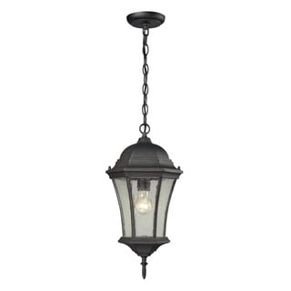 Cornerstone Wellington Park 1 Light Exterior Hanging Lamp In Weathered Charcoal