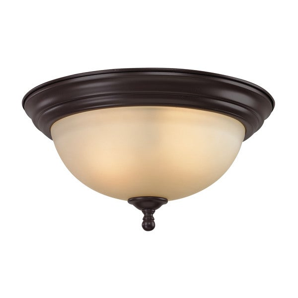 Cornerstone Oil Rubbed Bronze Chatham 2-light Flush Mount