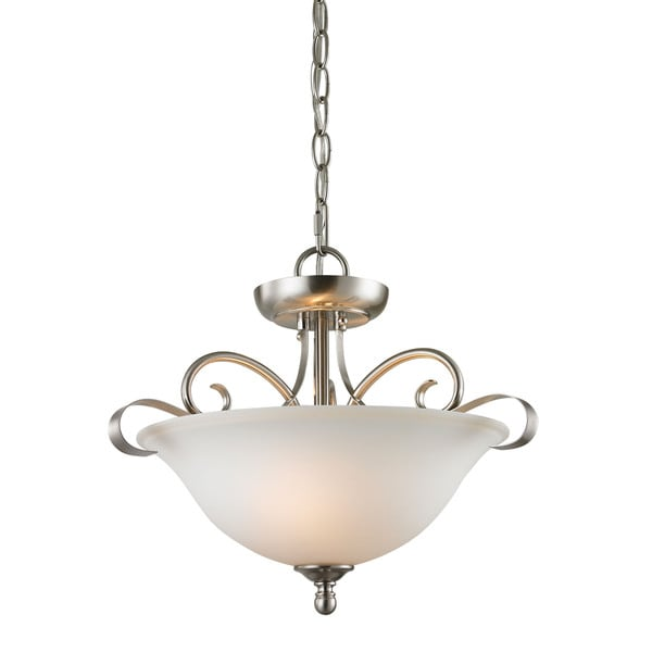 Cornerstone Brushed Nickel Brighton 2 Light Convertible Free Shipping Today