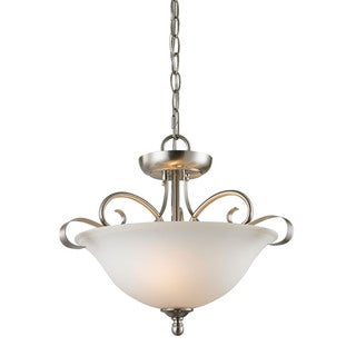 Cornerstone Brushed Nickel Brighton 2-light Convertible