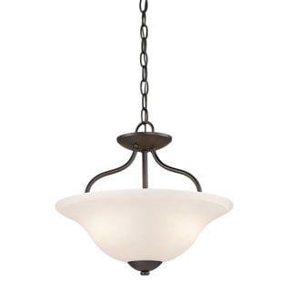 Cornerstone Oil Rubbed Bronze Conway 2-light Semi-Flush