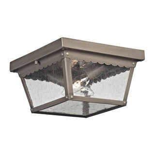 Cornerstone Antique Nickel Springfield 2-light Exterior Flush Mount