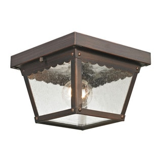 Cornerstone 8.375-inch Hazelnut Bronze Springfield 2-light Exterior Flush Mount
