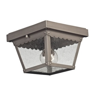 Cornerstone Dark Pewter Springfield 2-light Exterior Flush Mount