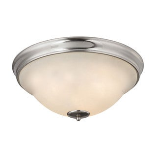 Cornerstone Brushed Nickel Hamilton 3-light Flush Mount