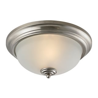Cornerstone Brushed Nickel Huntington 3-light Ceiling Lamp