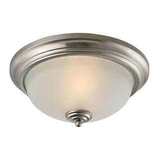 Cornerstone Brushed Nickel Huntington 2-light Ceiling Lamp