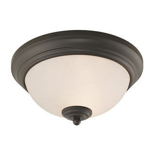 Cornerstone Oil Rubbed Bronze Huntington 2-light Ceiling Lamp