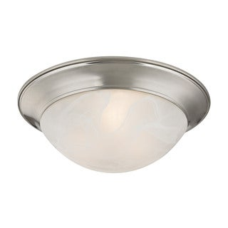 Cornerstone Brushed Nickel 2-light Flush mount