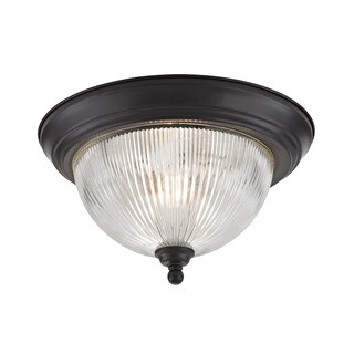 Cornerstone Oil Rubbed Bronze Liberty Park 2-light Flush Mount