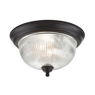 Cornerstone 15-inch Oil Rubbed Bronze Liberty Park 3-light Flush Mount