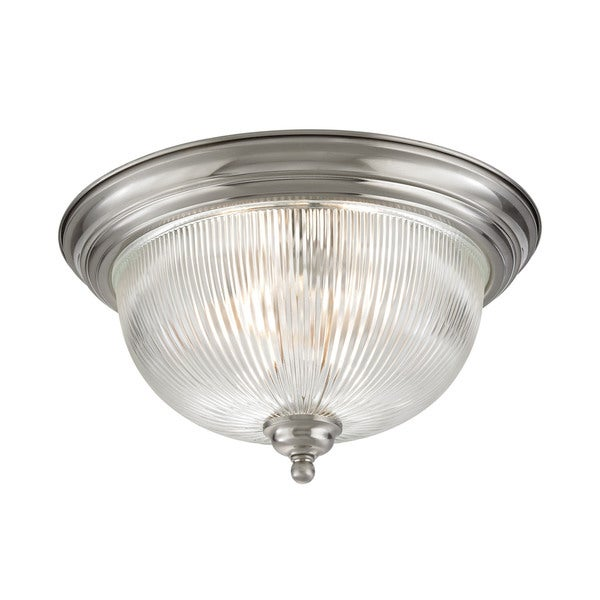 Cornerstone Brushed Nickel Liberty Park 3-light Flush Mount