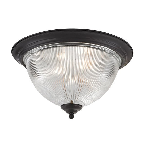 Cornerstone 18-inch Oil Rubbed Bronze Liberty Park 3-light Flush Mount