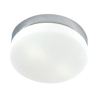 Cornerstone 6-inch Satin Nickel/ White Glass 1-light Flush Mount