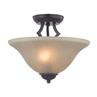 Cornerstone Oil Rubbed Bronze Kingston 2-light Semi-Flush