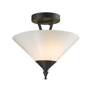 Cornerstone Oil Rubbed Bronze Tribecca 2-light Semi Flush