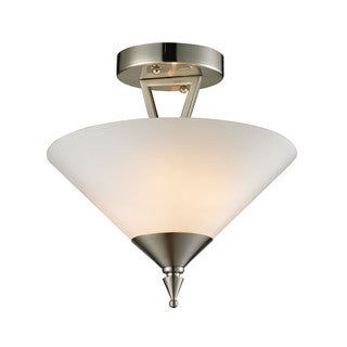 Cornerstone Brushed Nickel Tribecca 2-light Semi Flush
