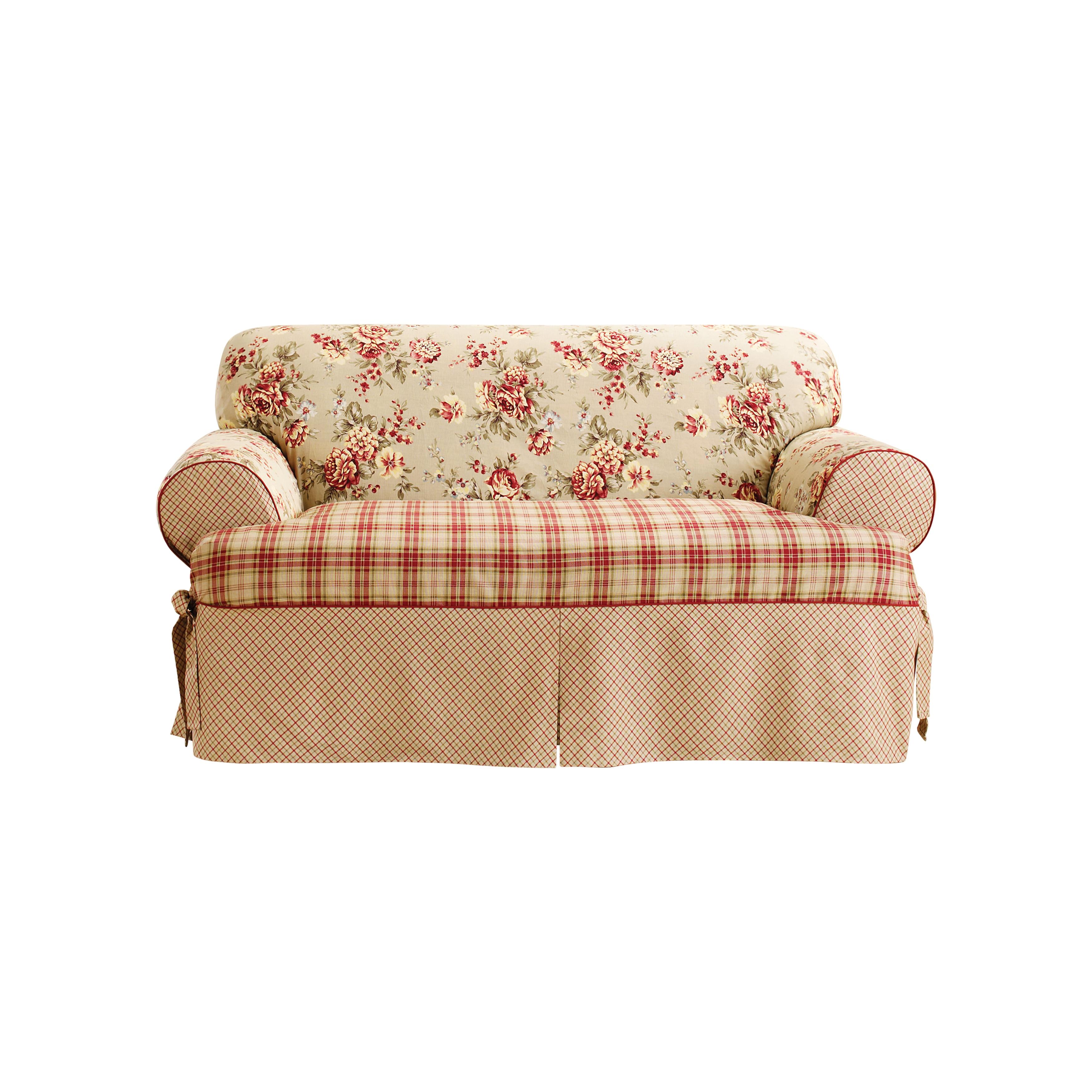 Sure Fit Lexington One-piece T-cushion Sofa Slipcover (Mu...