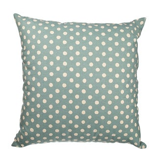 Blue Canvas Polka Dot 18-inch Throw Pillow