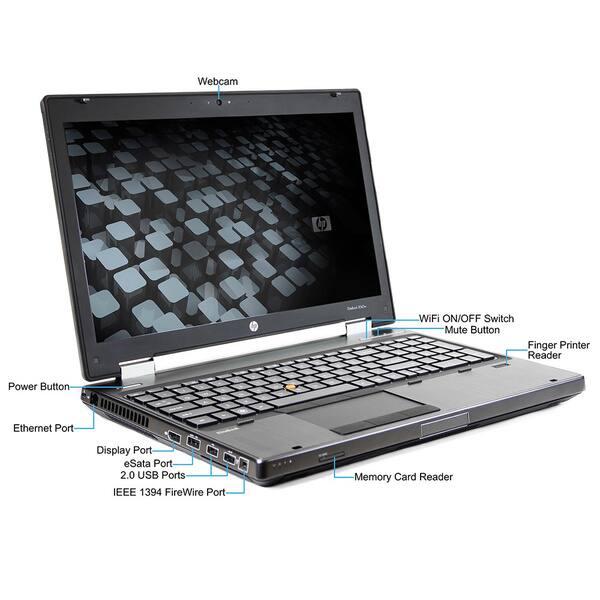 Shop HP Elitebook 8560W Intel Core i7-2760QM 2 4GHz 2nd Gen