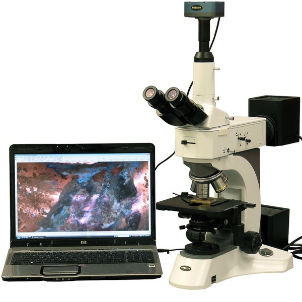 50X-2500X Darkfield Polarizing Metallurgical Microscope with 10MP Digital Camera