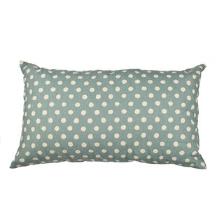 Blue Canvas Polka Dot 20-inch Throw Pillow