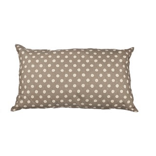 Grey Canvas Polka Dot 20-inch Throw Pillow