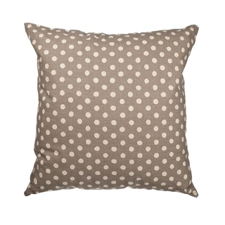 Gray Canvas Polka Dot 18-inch Throw Pillow