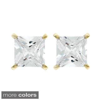 Nexte Jewelry Goldtone Or Silverton Princess-Cut Cubic Zirconia Stud Earrings|https://ak1.ostkcdn.com/images/products/10237631/P17357824.jpg?impolicy=medium